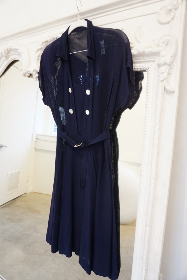 Oversized See-through Sailor Dress