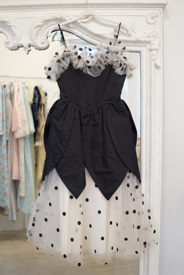 Extra Small Polka Dot & Tulle Party Dress