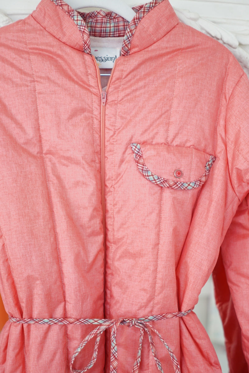 Small 80's Blush Puffy Bed Jacket