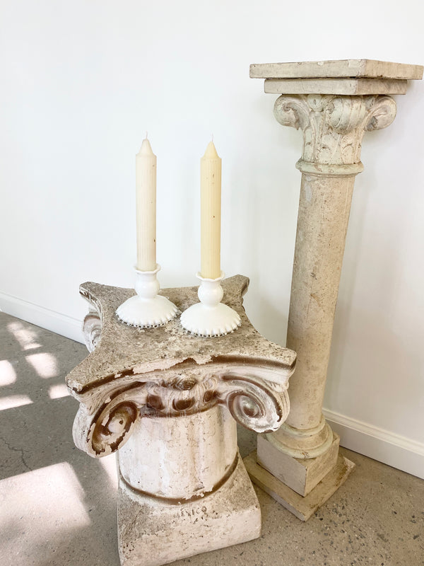 Flirty White Candle Sticks