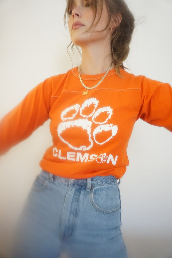 Small/Med 80s Single Stitch Clemson Tee