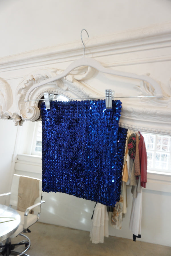 Extra Small Stary Night Sequined Tube Top