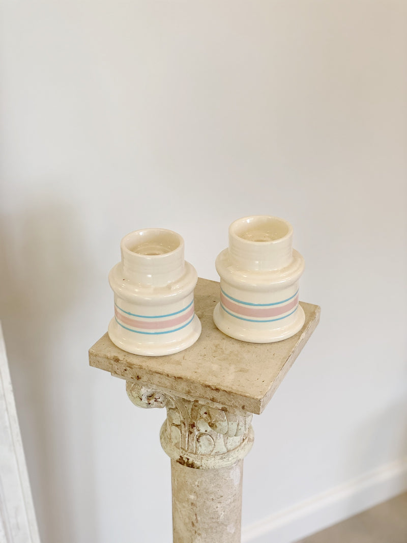 Heirloom Quality Stoneware Candlesticks