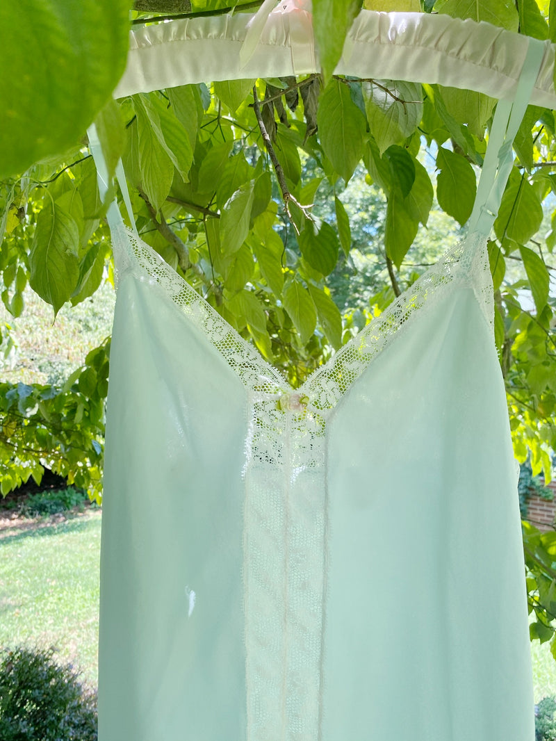 Small Powder Blue Lace Slip Dress