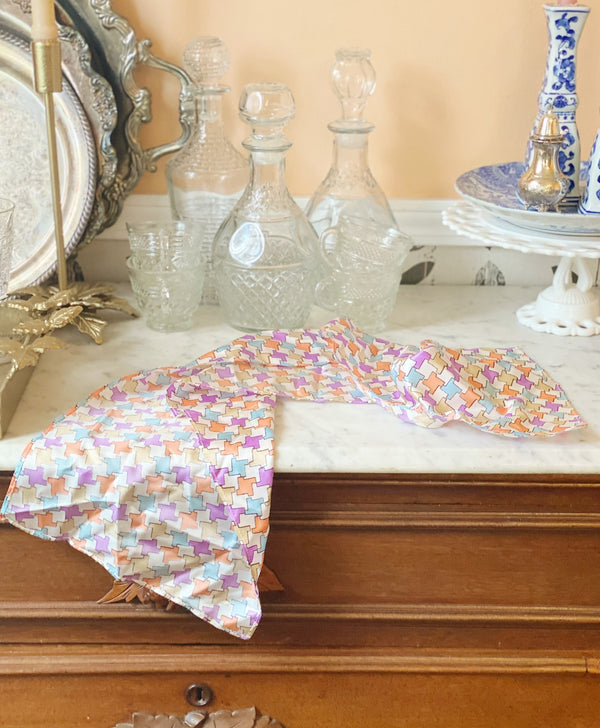 Pastel Check Scarf
