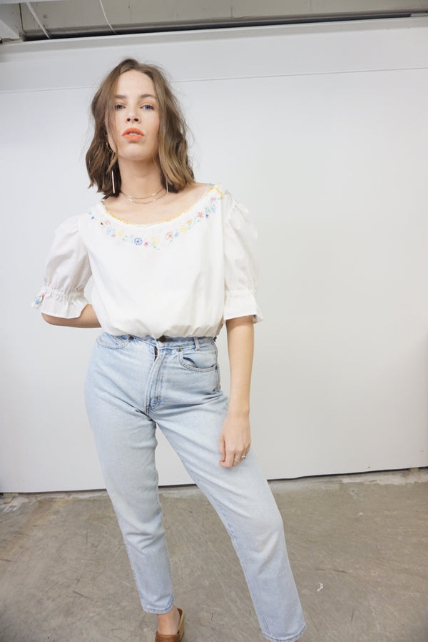 Medium/Large Embroidered Peasant Top