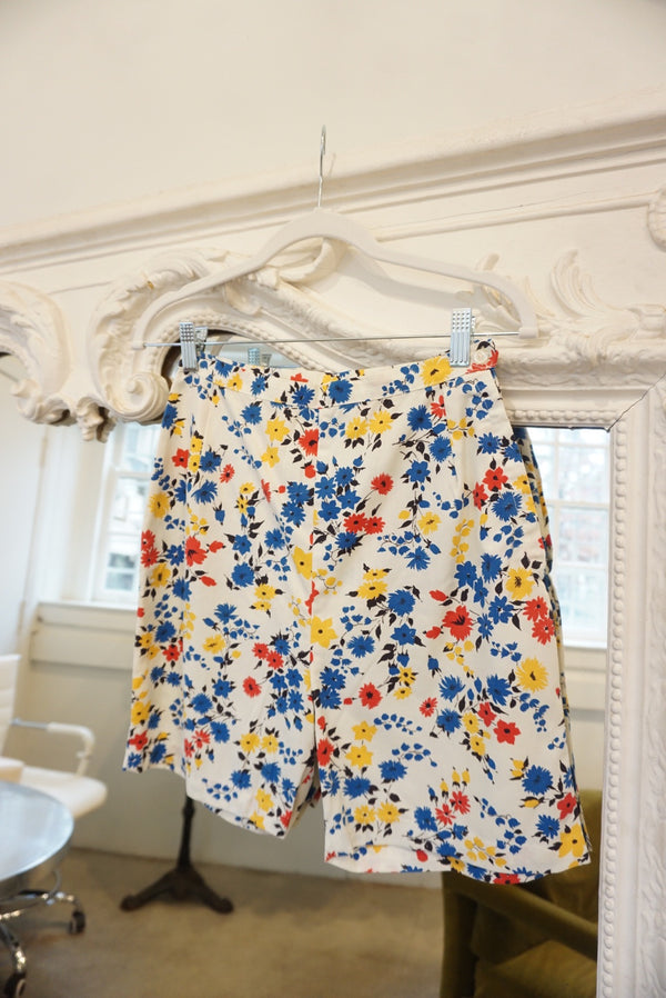 Small 60's Tri-Color Floral BBQ Shorts