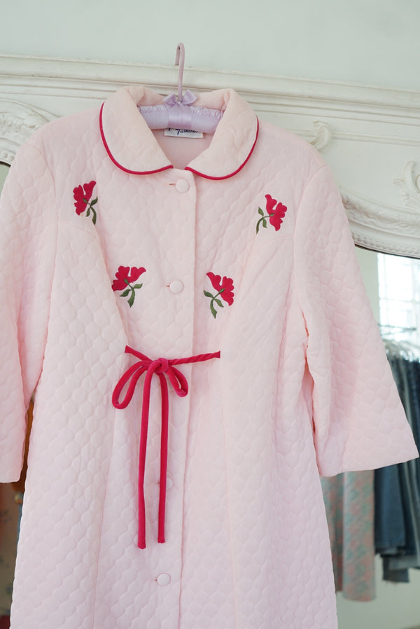 Medium Baby Pink Quilted Puffer Coat
