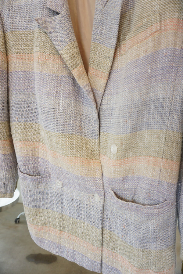 Small Liz Linen Pastel Layers Blazer