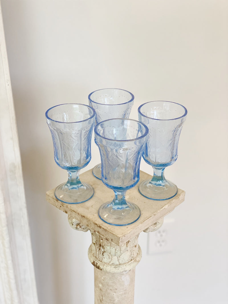Periwinkle Blue Glass Set