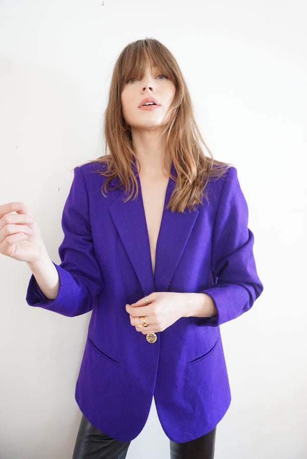 Large Royal Purple Blazer Wool