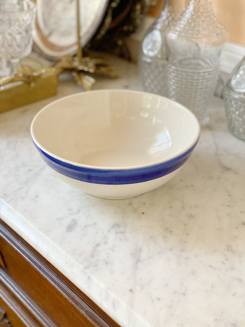 Vintage Stoneware Serving Bowl