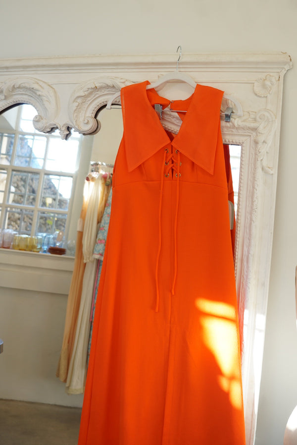 M/L Bright 70's Major Collar Maxi