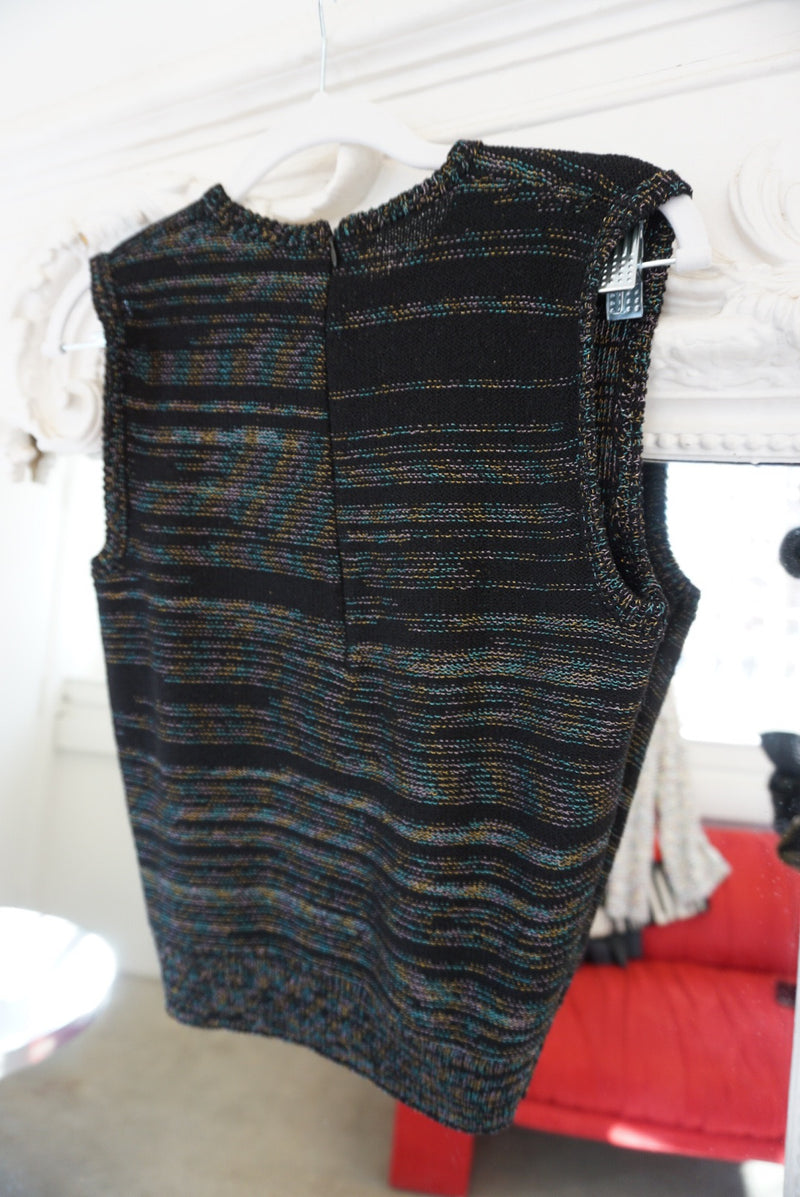Small Rainbow Thread Sweater/tank Set