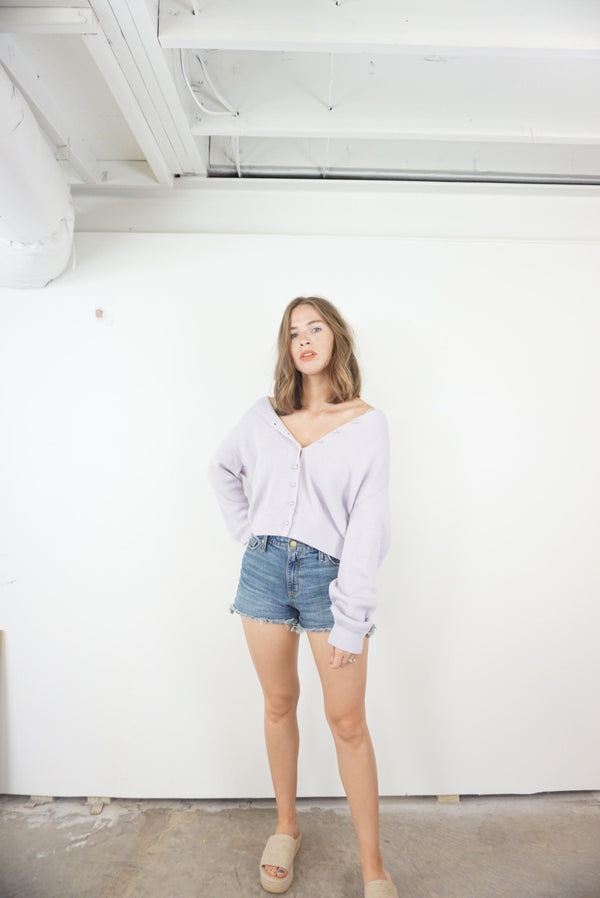 Large Favorite Lavender Cardigan