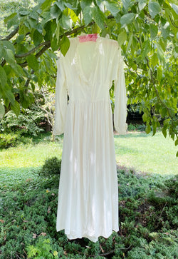 Small STUNNING! Silk Button Front Antique Gown