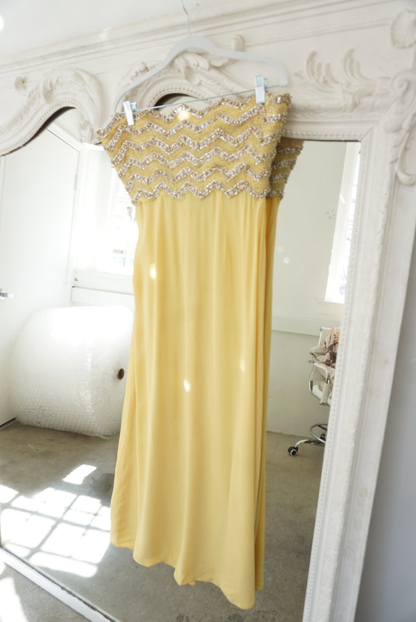 60's Sequin Bodice Gown