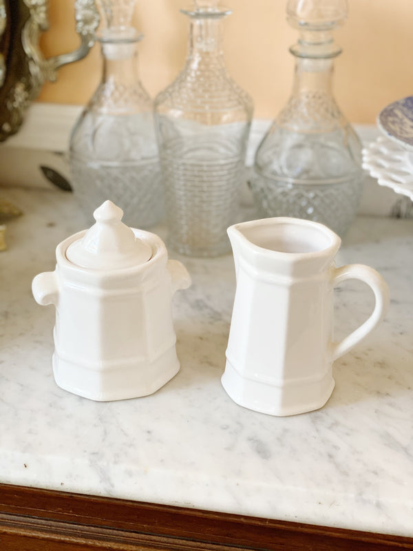 Creamy Cream and Sugar Set