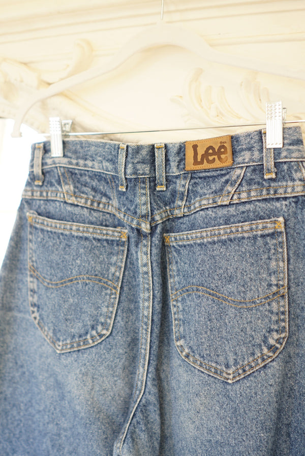 Waist 28in Lee Light Acid Denim
