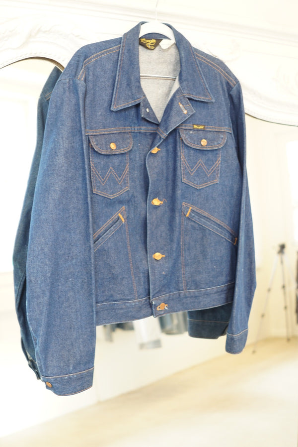 Large Wrangler Raw Denim Jacket