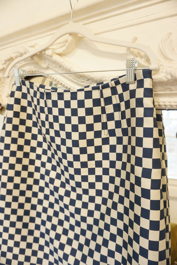 Sz. 6 Marc Checkerboard Mini Skirt