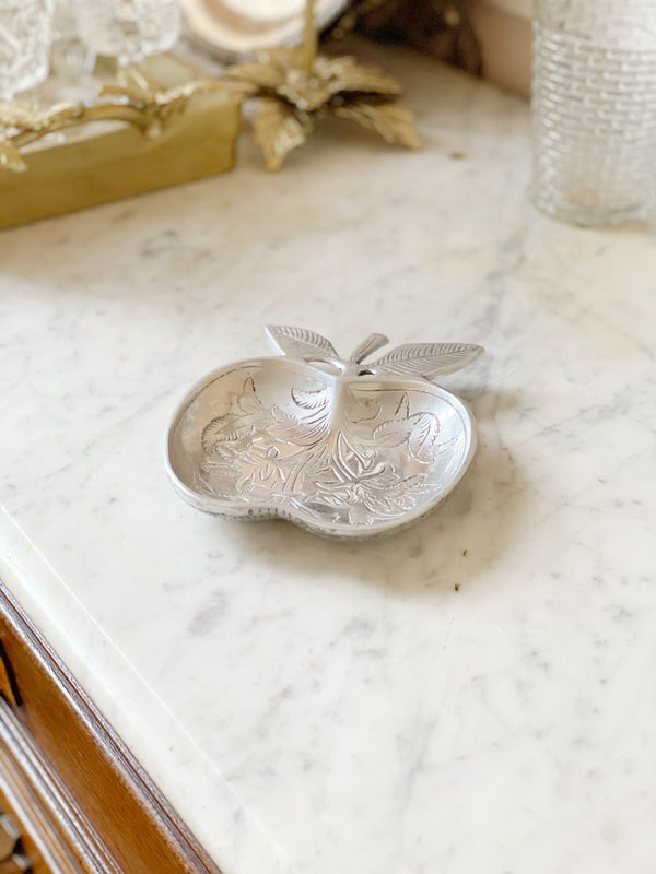 Silver Apple Spoon Rest