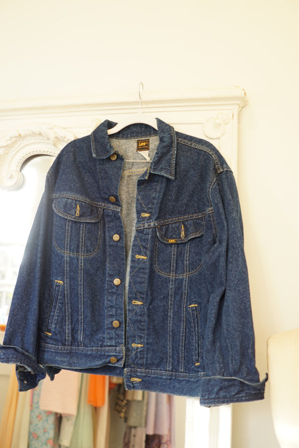 M 80's Lee Dark Wash Denim Jacket