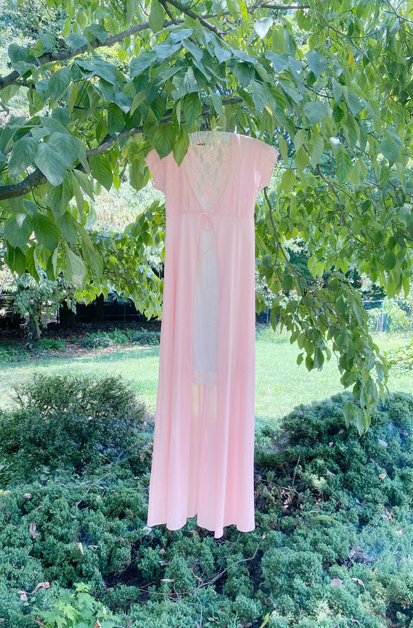 Small Pink Dreamer Tie Front Gown