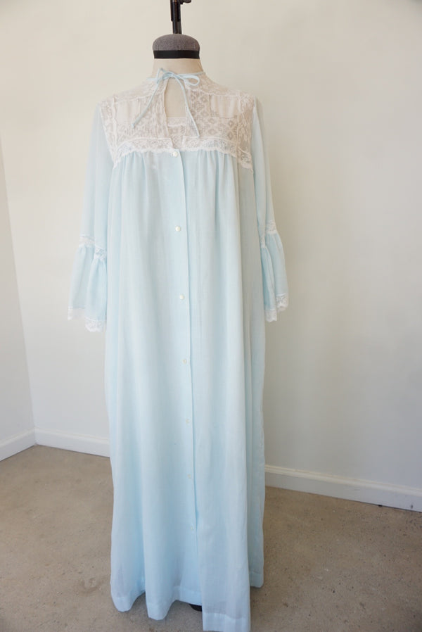 Medium 50's Baby Blue & Eyelet Nightie Set