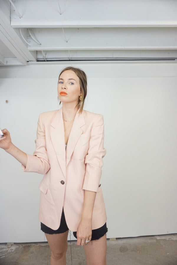 Small Blush Blazer Light Wool!