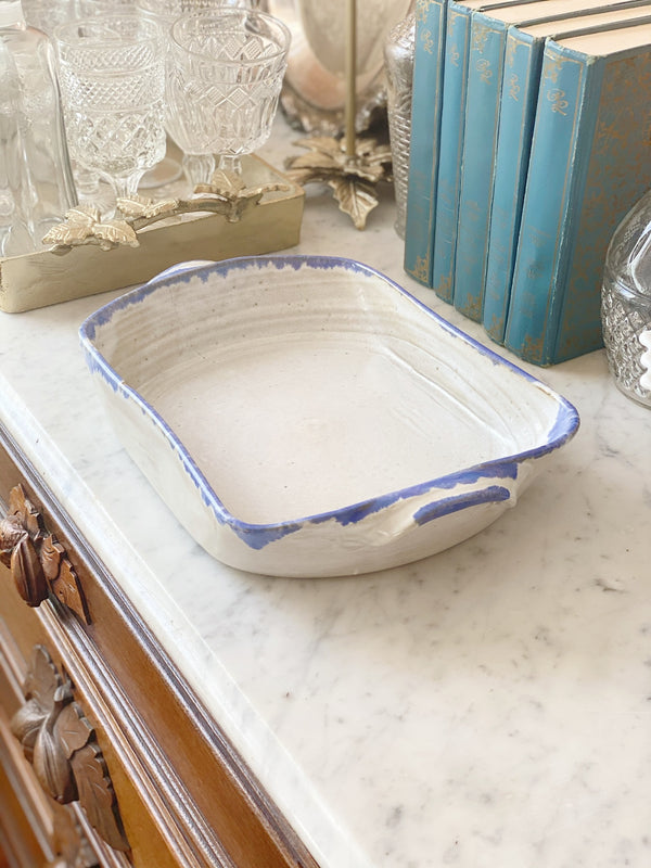 Antique Handmade Baking Dish