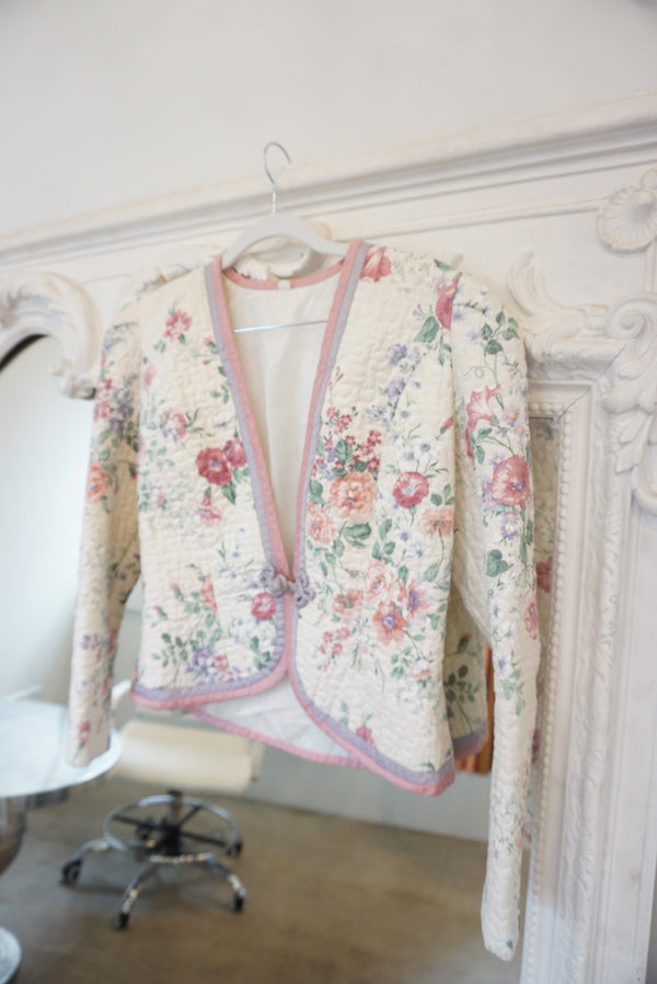 Small 80's Floral Victorian Coat