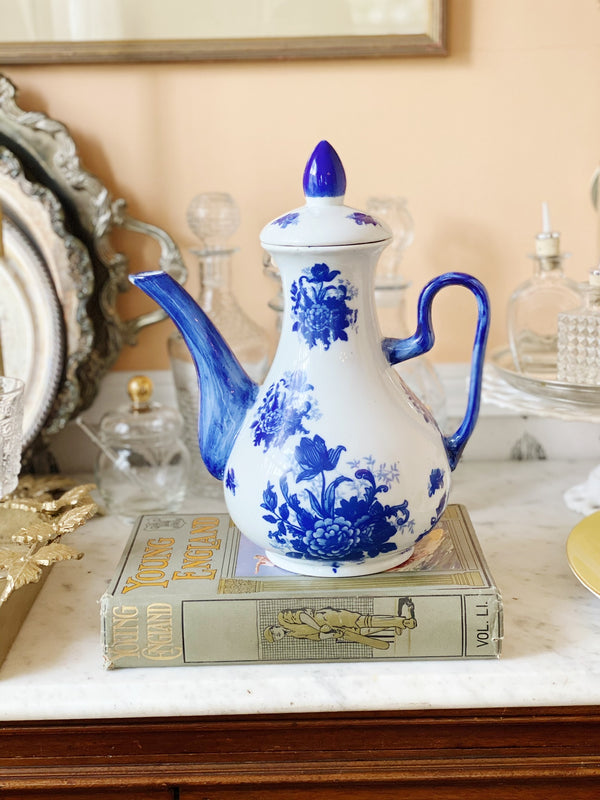 Gorgeous Blue China Tea Pot