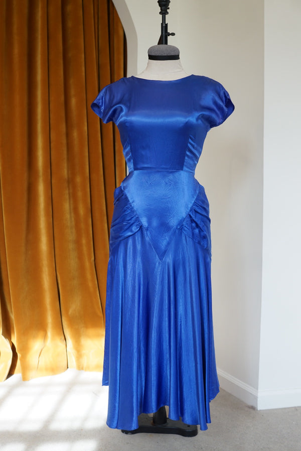 XSmall 30s/40s Heirloom Liquid Silk Dress