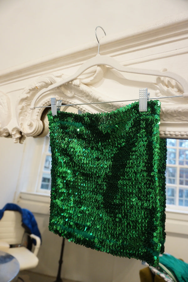 Small Green Sequin Tube Top