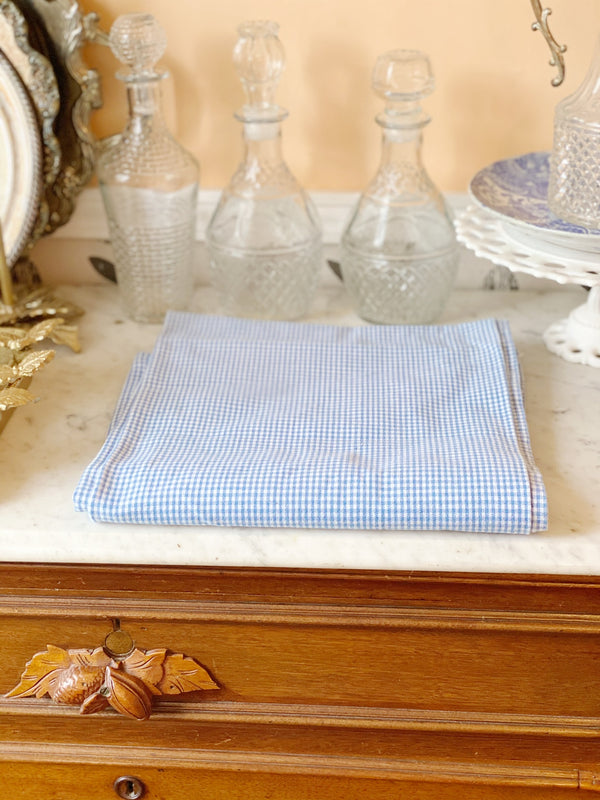 Baby Blue Mini Check Tablecloth