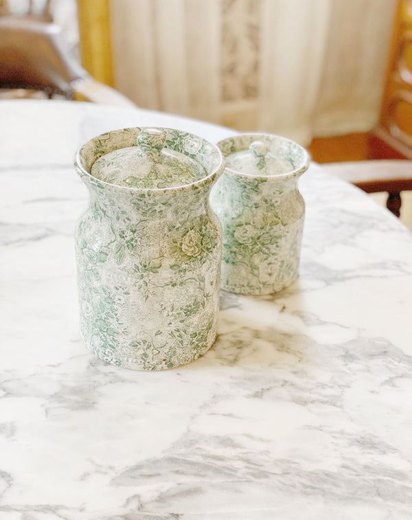 Sweetest Green China Canister Set