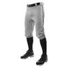 Champro Triple Crown Knicker Baseball Pants with Braid - Gray/Black