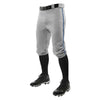 Champro Triple Crown Knicker Baseball Pants with Braid - Gray/Navy