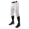 Champro Triple Crown Knicker Baseball Pants with Braid - White/Navy