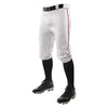 Champro Triple Crown Knicker Baseball Pants with Braid - White/Scarlet