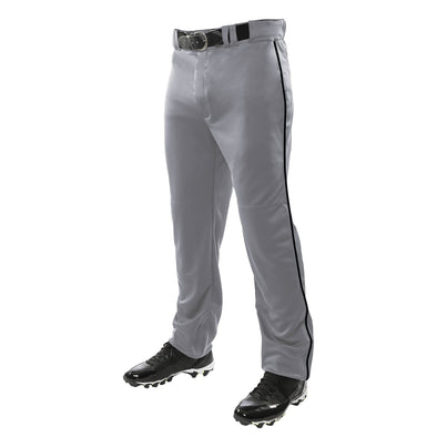 Champro Triple Crown Open Bottom Pant with Piping - Gray/Black