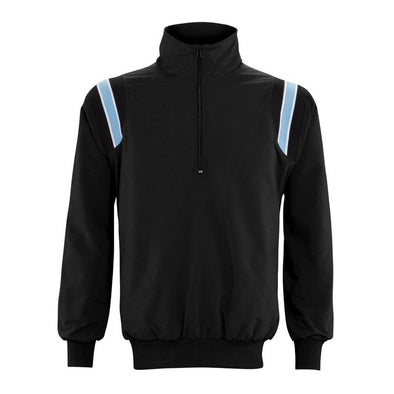 Adams Long Sleeve Pullover Umpire Jacket - Black/Powder Blue