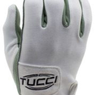 Tucci Tackified BP Batting Gloves-White