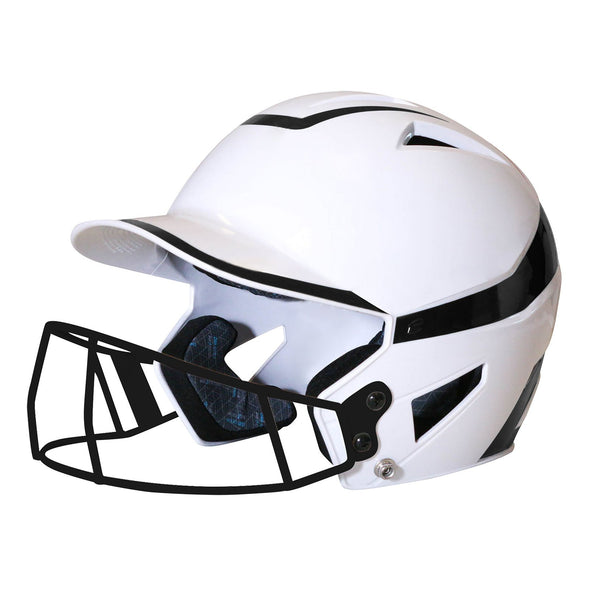 Champro HX Rise Pro Batting Helmet with Facemask - Black
