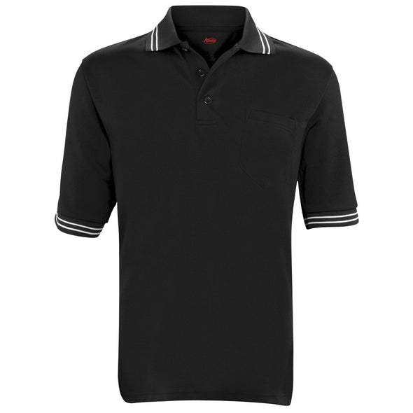 Adams Short Sleeve Shirt With Mesh Back-Black