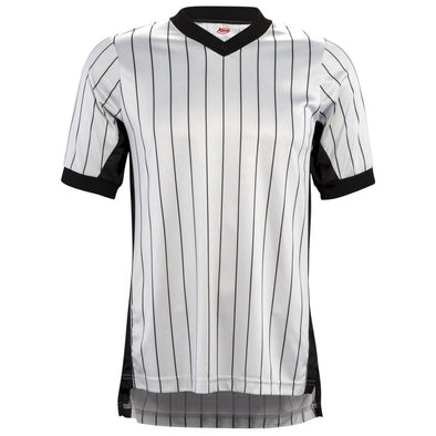 "Adams Short Sleeve Referee Shirt With 3"" Black Side Panels"