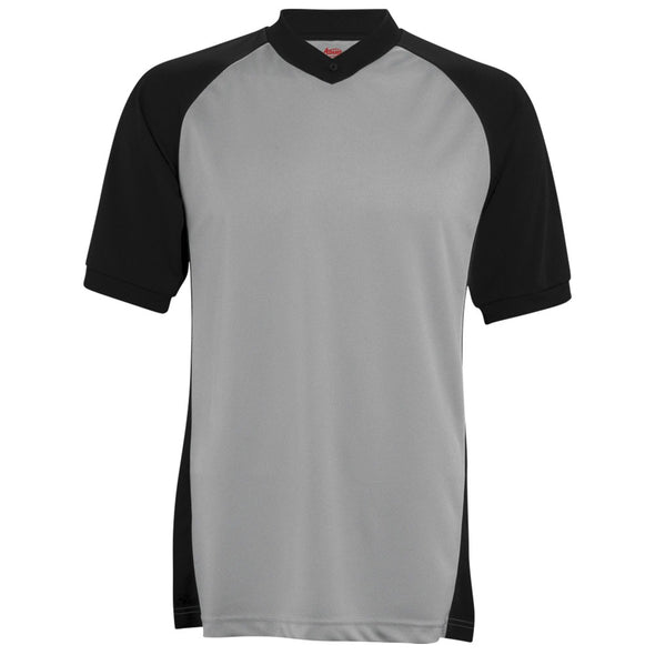 Adams Basketball Referee Shirt Gray with Raglan Short Sleeve