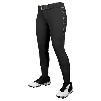 Champro Leadoff Traditional Women's Low Rise Pant -Black