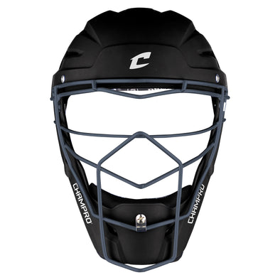 Champro Optimus Pro Rubberized Hockey Style Catchers Headgear Black